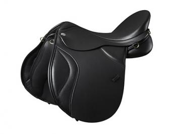 Super-comfy Deeper seat GP Saddle Synthetic CHANGEABLE GULLET BLACK