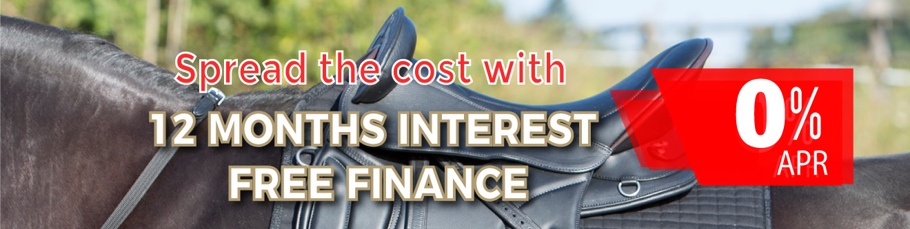 Interest free credit / finance for Saddles and equestrian products